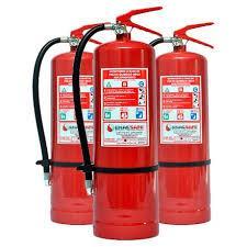 Placa indicativa de extintor de incêndio