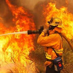 Centro de treinamento de combate a incêndio