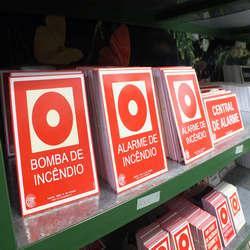 Placas de sinalização de incêndio preço