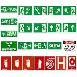 Placa de sinalização de hidrante