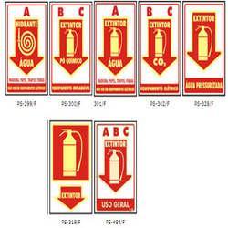 Placas de sinalização rota de fuga preço