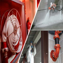 Sistema de hidrantes e mangotinhos para combate a incêndio