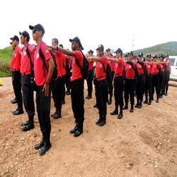 Campo de treinamento de combate a incêndio sp